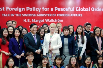"""A Feminist Foreign Policy for a Peaceful Global Order"" talk by the Swedish Minister of Foreign Affairs H.E. Margot Wallstrom"