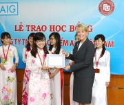Full scholarship ceremony of AIG Insurance Co., Ltd Vietnam